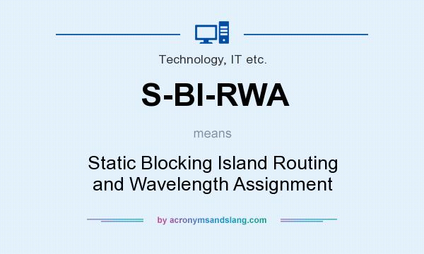 What does S-BI-RWA mean? It stands for Static Blocking Island Routing and Wavelength Assignment