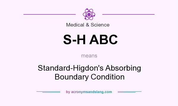 What does S-H ABC mean? It stands for Standard-Higdon`s Absorbing Boundary Condition