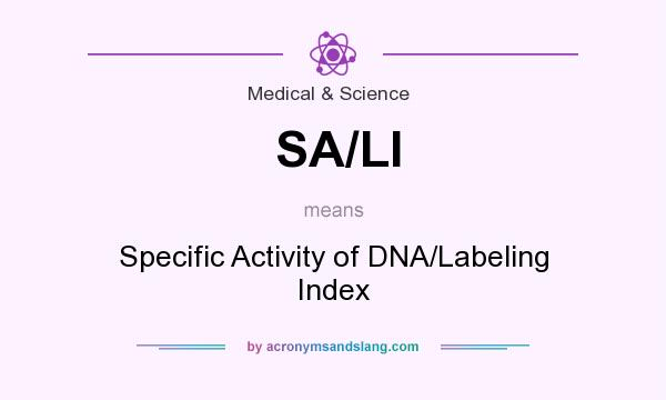What does SA/LI mean? It stands for Specific Activity of DNA/Labeling Index