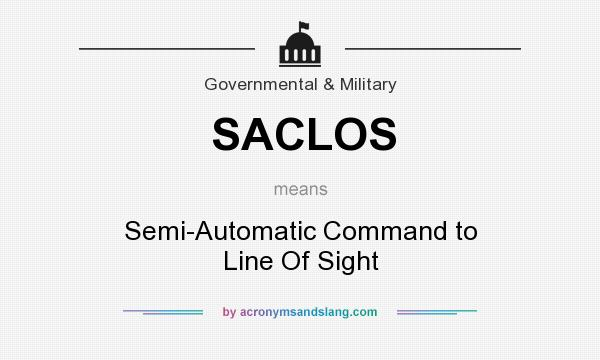 What does SACLOS mean? It stands for Semi-Automatic Command to Line Of Sight