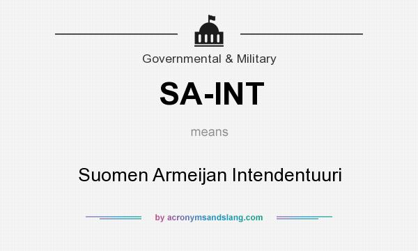 What does SA-INT mean? It stands for Suomen Armeijan Intendentuuri