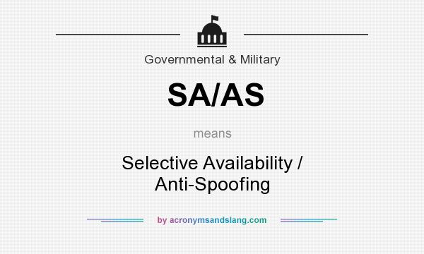 What does SA/AS mean? It stands for Selective Availability / Anti-Spoofing