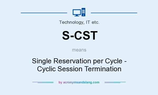 What does S-CST mean? It stands for Single Reservation per Cycle - Cyclic Session Termination