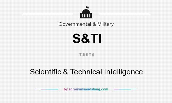 What does S&TI mean? It stands for Scientific & Technical Intelligence