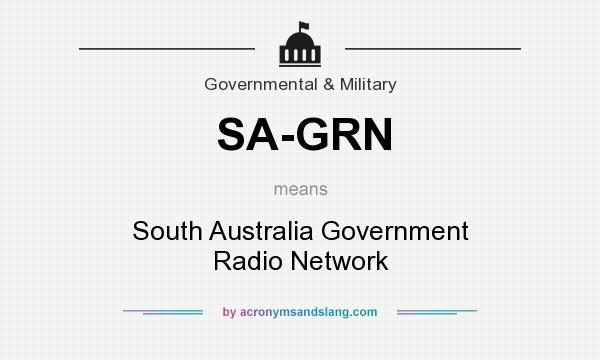What does SA-GRN mean? It stands for South Australia Government Radio Network