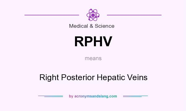 What does RPHV mean? It stands for Right Posterior Hepatic Veins