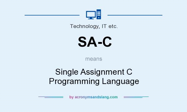 What does SA-C mean? It stands for Single Assignment C Programming Language