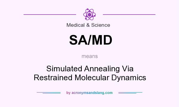 What does SA/MD mean? It stands for Simulated Annealing Via Restrained Molecular Dynamics