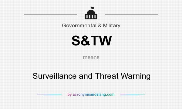 What does S&TW mean? It stands for Surveillance and Threat Warning
