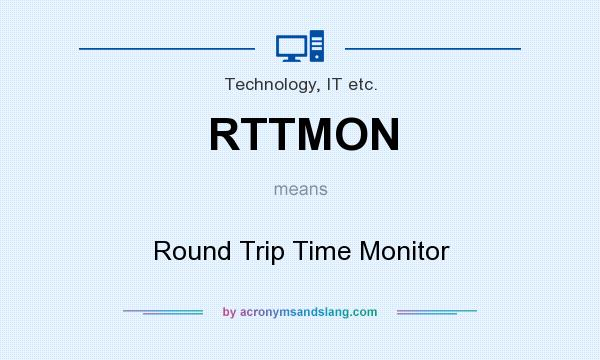 What does RTTMON mean? It stands for Round Trip Time Monitor
