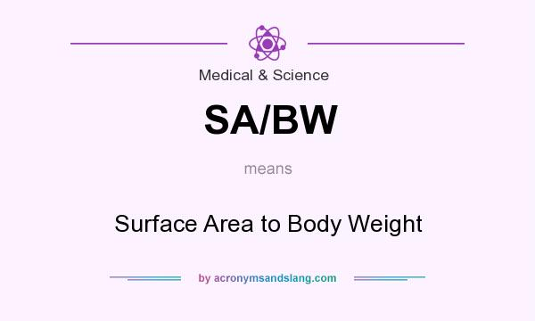 What does SA/BW mean? It stands for Surface Area to Body Weight