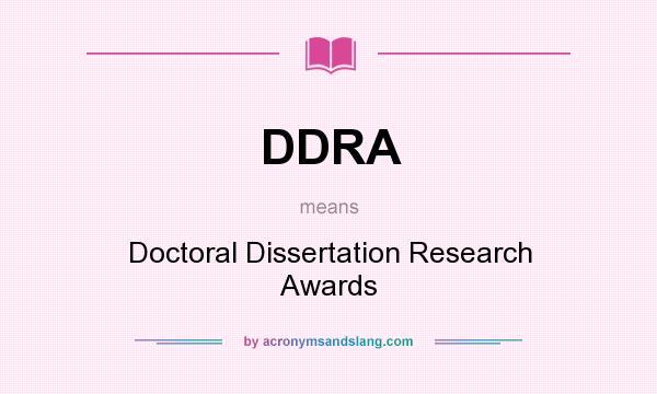 Doctoral Dissertation Definition
