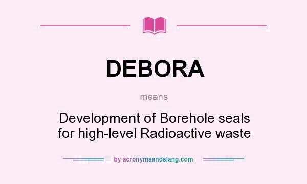 What does DEBORA mean? - Definition of DEBORA - DEBORA
