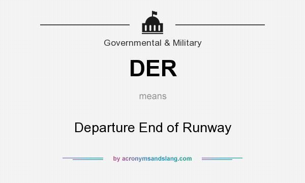 Der Departure End Of Runway By Acronymsandslang Com