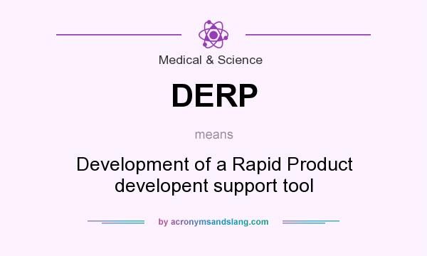 What does DERP mean? It stands for Development of a Rapid Product developent support tool