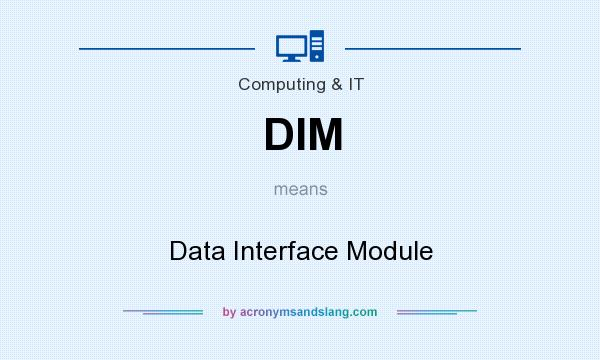 What does DIM mean? It stands for Data Interface Module