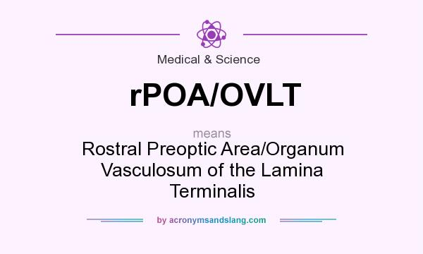 What does rPOA/OVLT mean? It stands for Rostral Preoptic Area/Organum Vasculosum of the Lamina Terminalis