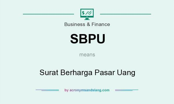 Sbpu Surat Berharga Pasar Uang In Business Finance By