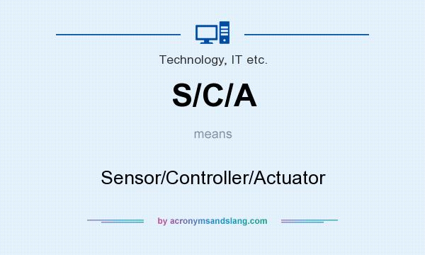 What does S/C/A mean? It stands for Sensor/Controller/Actuator