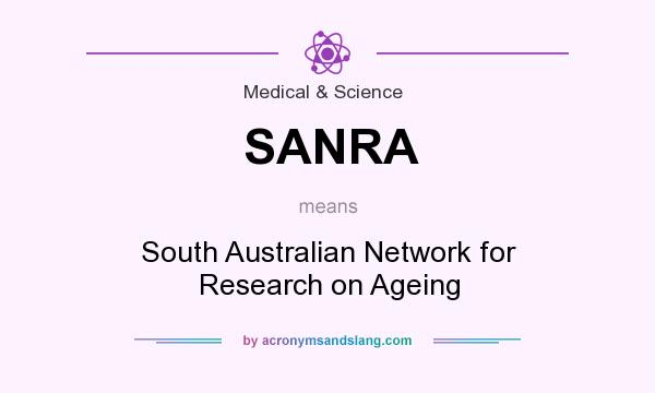 What does SANRA mean? It stands for South Australian Network for Research on Ageing