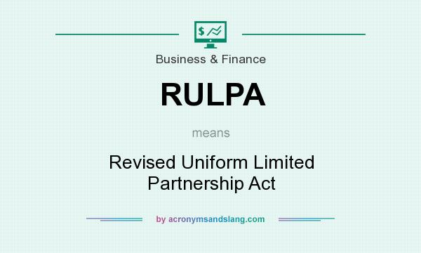 The Uniform Partnership Act 12