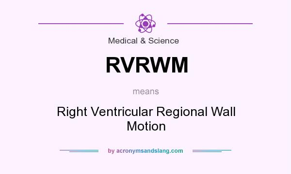 What does RVRWM mean? It stands for Right Ventricular Regional Wall Motion