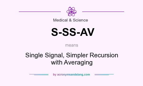 What does S-SS-AV mean? It stands for Single Signal, Simpler Recursion with Averaging