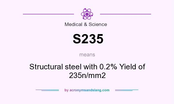 What does S235 mean? It stands for Structural steel with 0.2% Yield of 235n/mm2