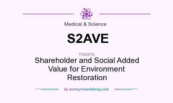 What does S2AVE mean? It stands for Shareholder and Social Added Value for Environment Restoration