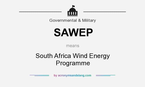 What does SAWEP mean? It stands for South Africa Wind Energy Programme