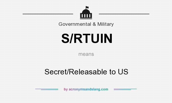 What does S/RTUIN mean? It stands for Secret/Releasable to US
