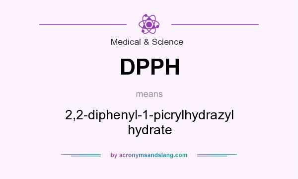 What does DPPH mean? It stands for 2,2-diphenyl-1-picrylhydrazyl hydrate