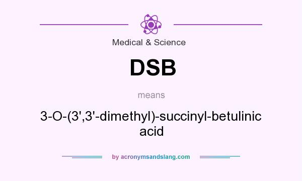 What does DSB mean? It stands for 3-O-(3`,3`-dimethyl)-succinyl-betulinic acid