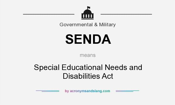 Special education needs and disability
