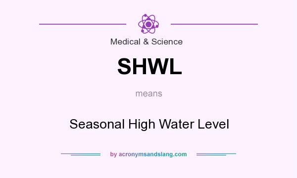 What does SHWL mean? It stands for Seasonal High Water Level