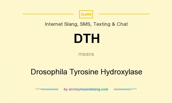 DTH - Drosophila Tyrosine Hydroxylase in Internet Slang, SMS