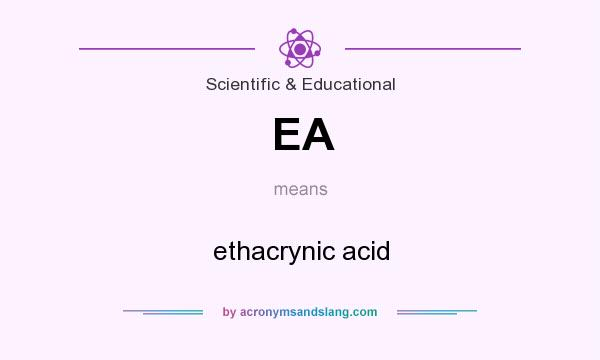 What does EA mean? It stands for ethacrynic acid
