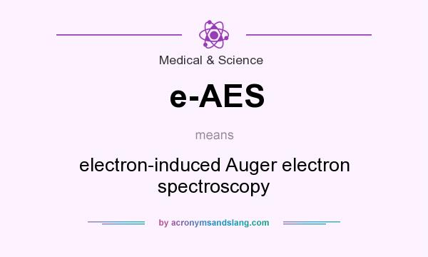What does e-AES mean? It stands for electron-induced Auger electron spectroscopy