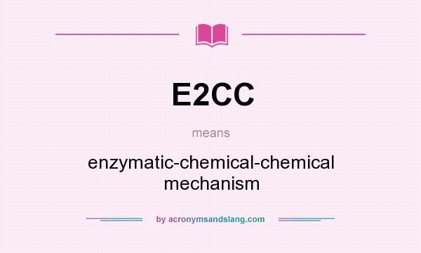 What does E2CC mean? It stands for enzymatic-chemical-chemical mechanism
