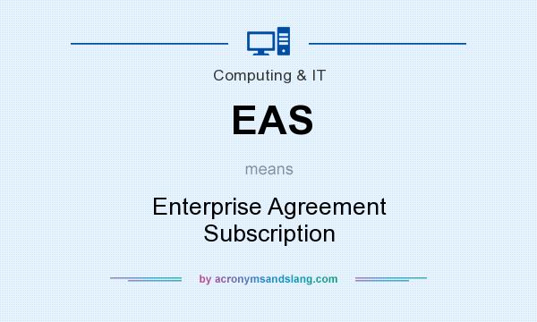 What does EAS mean? It stands for Enterprise Agreement Subscription