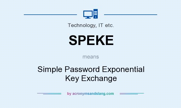 What does SPEKE mean? It stands for Simple Password Exponential Key Exchange