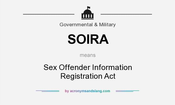 Sex offender information registry act