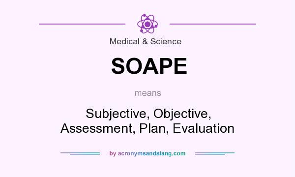 Soape - Subjective, Objective, Assessment, Plan, Evaluation In