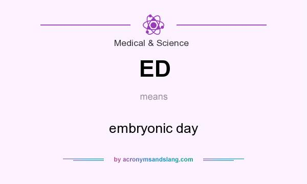 What does ED mean? It stands for embryonic day