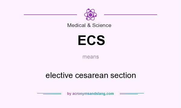 What does ECS mean? It stands for elective cesarean section