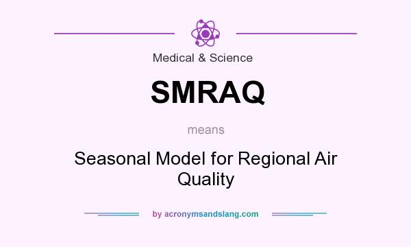 What does SMRAQ mean? It stands for Seasonal Model for Regional Air Quality