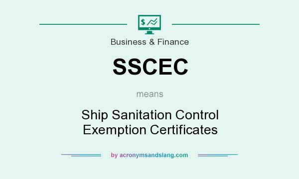 What does SSCEC mean? - Definition of SSCEC - SSCEC stands for Ship ...