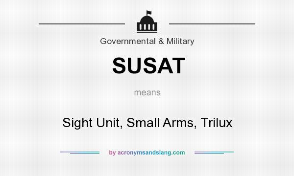 What does SUSAT mean? It stands for Sight Unit, Small Arms, Trilux
