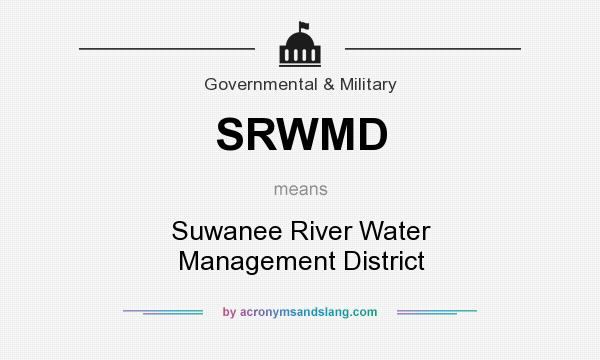 What does SRWMD mean? It stands for Suwanee River Water Management District