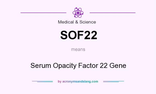 What does SOF22 mean? - Definition of SOF22 - SOF22 stands